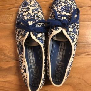 Keds blue floral print